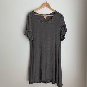 Mossimo Supply Co. striped ruffle sleeve dress